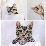 La creazione creativa della tasca del gattino creativo che cucita il distintivo del fumetto del mestiere del ricamo fornisce 9 stili