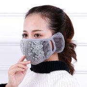 Damen 2 In 1 Warme Gesichtsmaske Ohrenschützer Ohr Nasenschutz Winddicht Anti Staub Für Radfahren
