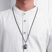 Retro Fruit Men Necklace Long-style Pendant Necklace Copper Necklace For Men