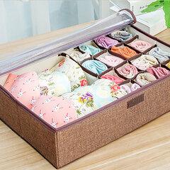 6 colores de gran capacidad de almacenamiento de lino Caja cesta ropa sujetadores almacenamiento Bolsa