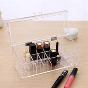 Clear Acrylic 24 Lipstick Holder Makeup Organizer Display Stand Cosmetic Case