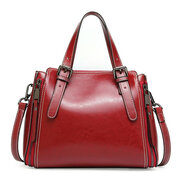 Women Genuine Leather Retro Handbag Oli Wax Crossbody Bag
