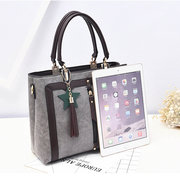 Women Faux Leather Vintage Pendant Handbag Crossbody Bag