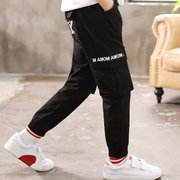 Letters Printed Overalls Casual Boy's Trousers