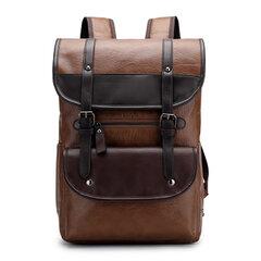 Мужская рюкзак из искусственной кожи большой емкости Винтаж, плечо Сумка