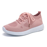 Women Casual Outdoor Breathable Mesh Lace Up Sneakers