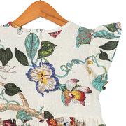 Verão Floral Meninas Vestem Criança Crianças Sem Mangas Casual Roupas De Algodão Para 2Y-11Y