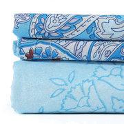 أزرق طقم سرير لحاف من دونا - لون أزرق طقم سرير لحاف من دونا -