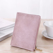 Women Candy Color Small Short Wallet Purse Card Holder