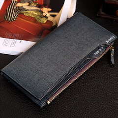 PU Leather Bifold Wallet 17 Card Slots Casual Business Card Pack Coin Bag For Men
