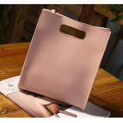 Girls Soft PU Leather Tote Bag Handbag Elegant Square Shulder Bag