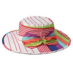 Cappello da spiaggia pieghevole da viaggio per esterno da donna pieghevole con banda a righe e cappello da marinaio