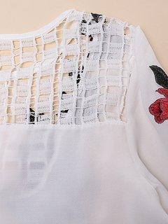 Blouson à manches longues à manches longues irrégulières et bordées en vrac pour les femmes