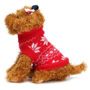 2 ألوان الحياكة سترة سترة الحيوانات الأليفة الكلب القط سترة دافئة الملابس