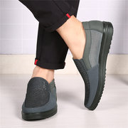 Large Size Men Old Peking Style Mesh Splicing Breathable Comfy Casual Shoes