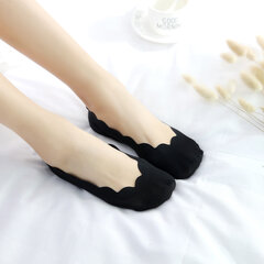 Women Summer Breathable Invisible Silicone Ice Silk Boat Socks Antiskid Low Cut Hosiery