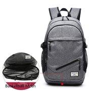 في الهواء الطلق السفر قماش حقيبة الظهر 17 '' حقيبة كمبيوتر محمول حقيبة كرة السلة مع المقبس USB