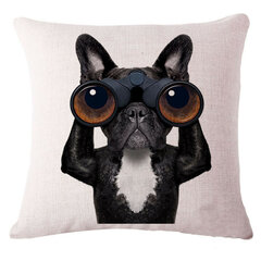 Fashion Cute Dog Cotton Linen Decorative Pillow Case Chair Waist Seat Square 45x45cm Pillow Cover