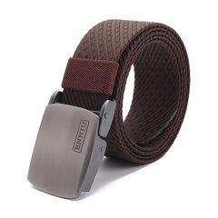 3.8 cm * 125 cm de secado rápido más grueso Nylon Cinturones de punto de lona Cinturones de hebilla de metal