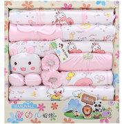 18pcs recém-nascido bebê chuveiro caixa de presente conjunto de roupas + acessórios para 0-6m