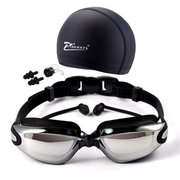 Myopia Swimming Glasses Waterproof And Anti-fog With Swimming Cap Set