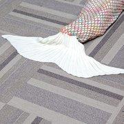 185 * 90CM Garn strickte Meerjungfrau Schwanz Decke handgefertigte Häkelarbeit werfen super weiche Sofa Bett Matte