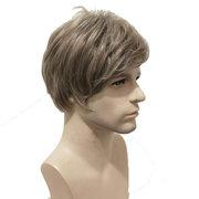 Synthetische Perücken European American New Fashion Herren Perücken kurze gerade Hitzebeständige Haar Perücken
