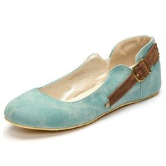 Big Size Buckle Candy Color Slip On Wedge Heel Increasing Shoes