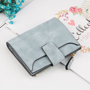 Women Stylish Candy Color Trifold Small Wallet Card Holder Purse