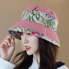 Mujer Imprimir Vogue Plegable Brim Corto Sol Sombrero Verano al aire libre Viaje Playa Tapa de cubo de mar