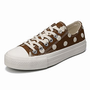 Women Casual Trainers Canvas Lace Up Flat Shoes