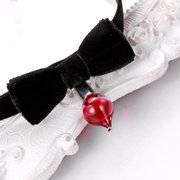 Blood Drip Necklace Halloween Blood Lace Black Bow Collar Necklace