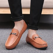 Men Soft Cow Leather Large Size Casual Shoes