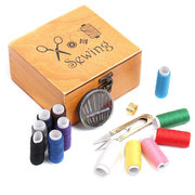 Wooden Basket Sewing Box Sewing Tool Kit Accessories Storage Case Gift Set