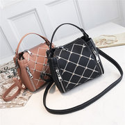 Women Casual Bucket Bag PU Leather Crossbody Bag Solid Shoudler Bag