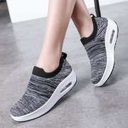 Women Casual Sock Shoes Sports Breathable Light Mesh Platform Sneakers