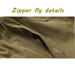 Plus Taille Casual Pantalon cargo d'extérieur multi-poches en vrac à jambe droite élastique pour hommes
