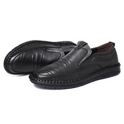 Men Microfiber Leather Super Soft Slip On Driving Casual Loafers