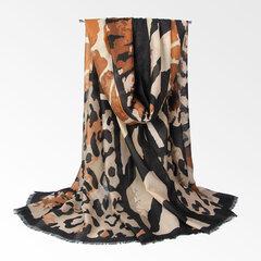 Sciarpa calda sottile morbida traspirante della biancheria del cotone dell'annata delle donne 180 * 90cm Scialle di picchiettio oversize del leopardo