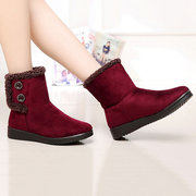 Easy Wearing Keep Warm Flat Ankle Boots