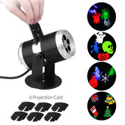 LED Halloween Projector Film Projection Lamp with 6 Cards