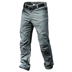 Mens Outdoor Muti-Pockets Pants Water-repellent Tactical Pants Military Training Pants