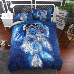 Dream Catcher Net Printed Bedding Set Quilt Duvet Cover Pillowcase Queen Full Twin Size