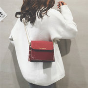 Women Chic PU Leather Crossbody Bag Patent Leather Chain Shoulder Bag
