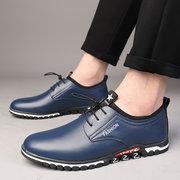 Мужская удобная эластичная обувь на плоской подошве Soft подошвы из натуральной кожи