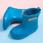 Unisex Kids Candy Colors Waterproof Detachable Plush Lining Sock Rain Boots
