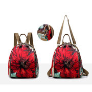 Women Nylon Flower Pattern Multifunctional National Style Handbag Shoulder Bags Backpacks