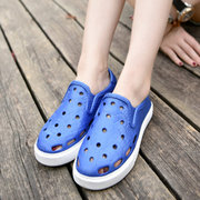 Large Size Women Beach Non Slip Breathable Hollow Snake Veins Flat Shoes