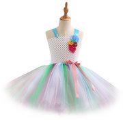 Vestido de tutu de festa de tule de lantejoulas de lantejoulas para 3Y-11Y
