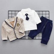 3шт Little Gentleman Baby Boys Наборы для одежды из хлопка для 6-36M